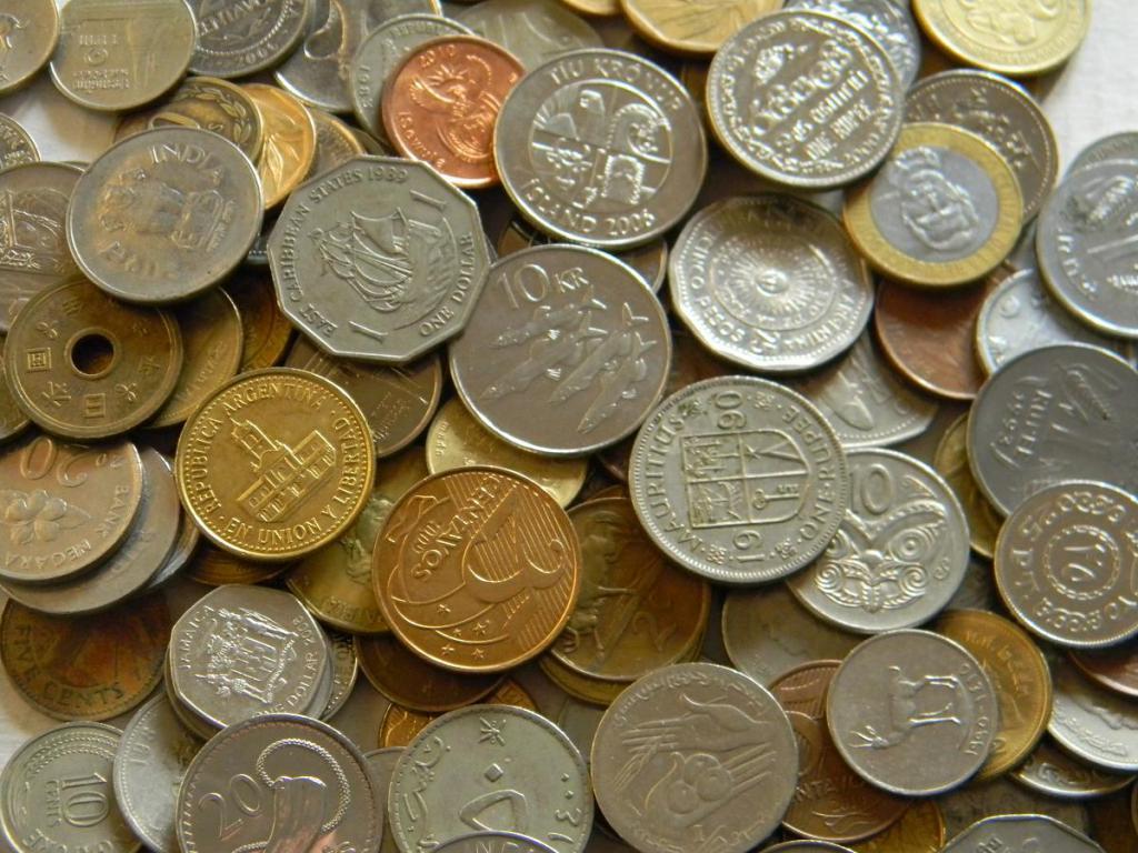Экзотика (монеты экзотических стран без европы и турции), мешок 7 кг