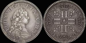 Франция, Луи XV, Essai du Quinzain d'or - 1720 (Париж),  Маz. 2227a, (24 мм, 7,93гр.),  XF+.jpg