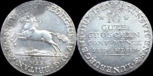 16 Gute Groschen 1820 Georg IV  (Брауншвейг-Каленберг-Ганновер).jpg
