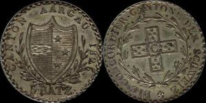 Швейцария, кантон Aргау - 5 батцен 1826, КМ21, AU55 ANACS - 3.jpg
