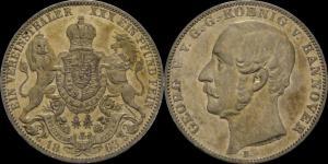 Брауншвейг - Каленберг - Ганновер - талер 1863 Георг – V, UNC.jpg