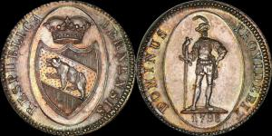 Швейцария - Берн, талер - 40 батцен 1798 (41 мм, 29,25гр.) Dav.  1760.jpg