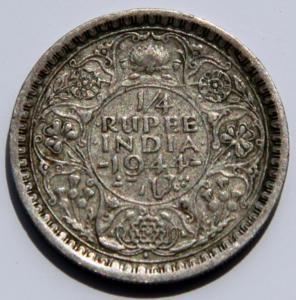 1 Индия Британская четверть руп 44г.jpg