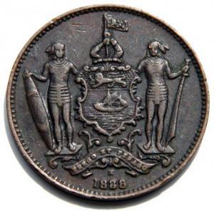 2 Британское Северное-Барнео 1цент 888г.jpg
