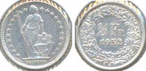 Швейцария 1 2 франка 1952  8.jpg