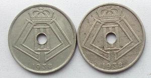 IMG02848выст Бельгия 25 сентим 1938 г 2 шт.jpg