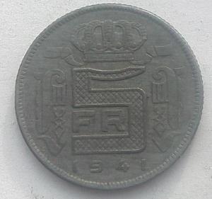 IMG02903выст Бельгия 5 франков 1941.jpg