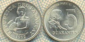 Парагвай 5 гуарани 1992  114.jpg