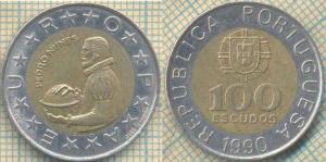 Португалия 100 эскудо 1990  110.jpg