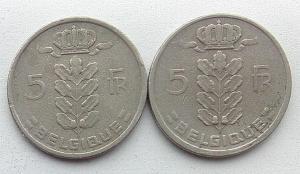 IMG02848выст Бельгия 5 франков 1949  1950 г 2 шт.jpg