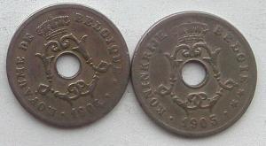 IMG02838выст Бельгия 10 сентов 1904 и 1905.jpg