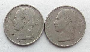 IMG02838выст Бельгия 5 франков 1949  1950 г 2 шт.jpg