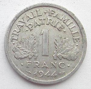 IMG04714выст Франция 1 фр 1944 Виши.jpg